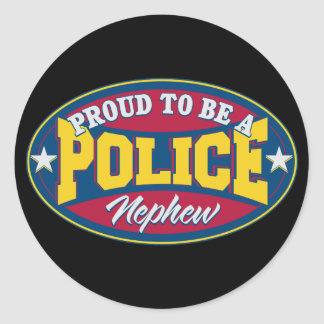 Proud to be a Police Nephew Classic Round Sticker