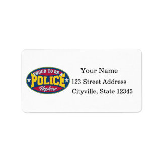 Proud to be a Police Nephew Address Label
