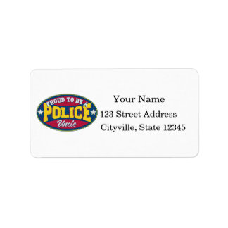 Proud to be a Police Uncle Personalized Address Labels
