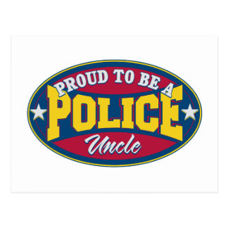 Proud to be a Police Uncle Postcard