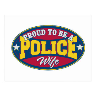 Proud to be a Police Wife Postcard