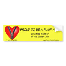 Proud to be a Pump Head Bumper Sticker