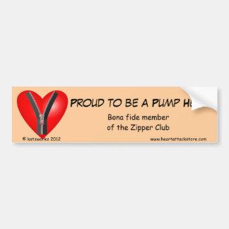 Proud to be a Pump Head Car Bumper Sticker