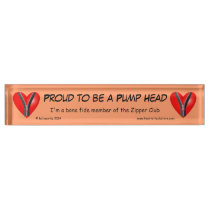 Proud to be a Pump Head Nameplate