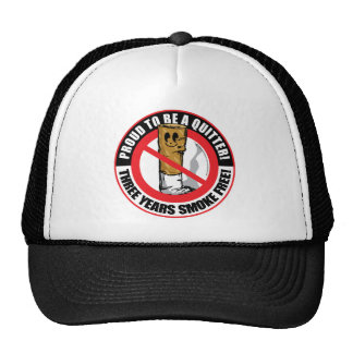 Proud To Be A Quitter 3 Years Trucker Hat