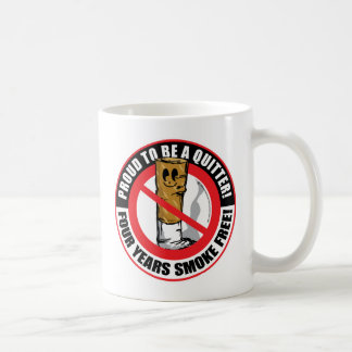 Proud To Be A Quitter 4 Years Coffee Mug