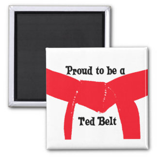Proud to be a Red Belt Refrigerator Magnet