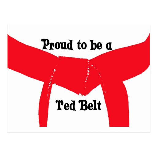 Proud to be a Red Belt Postcard