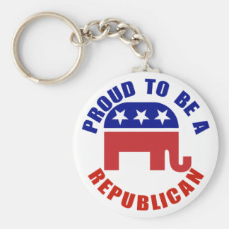 Proud To Be A Republican Original Basic Round Button Keychain