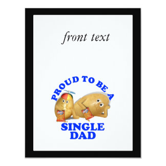 """Proud to be a Single Dad - Father & Son Potatoes 4.25"""" X 5.5"""" Invitation Card"""