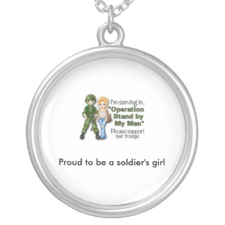 proud to be a soldier's girl necklace