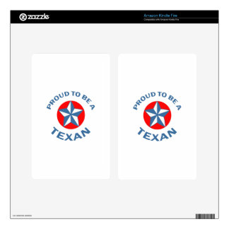 PROUD TO BE A TEXAN DECALS FOR KINDLE FIRE