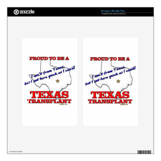 Proud to be a Texas Transplant! Kindle Fire Decal