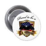 Proud to be a U.S. Veteran Pin