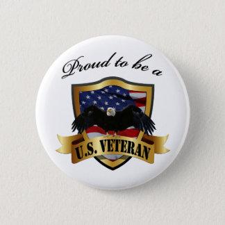 Proud to be a U.S. Veteran Pinback Button