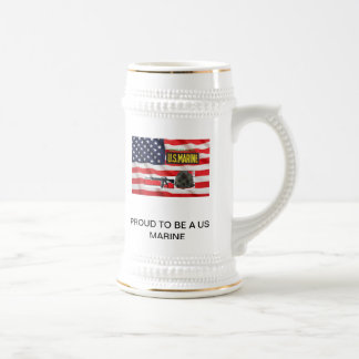 PROUD TO BE A US MARINE STEIN COFFEE MUGS