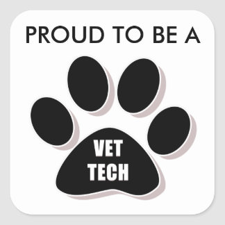 PROUD TO BE A VET TECH STICKER