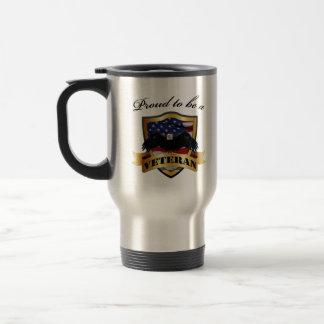 Proud to be a Veteran 15 Oz Stainless Steel Travel Mug