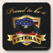 Proud to be a Veteran Beverage Coaster