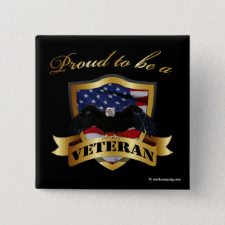 Proud to be a Veteran Button