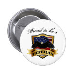 Proud to be a Veteran Pinback Buttons
