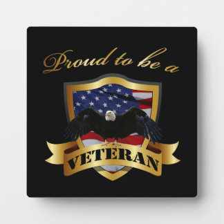 Proud to be a Veteran Plaque