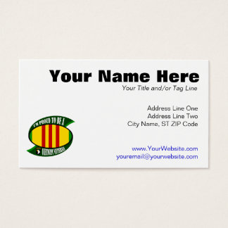 Proud to be a Vietnam Vet Business Card