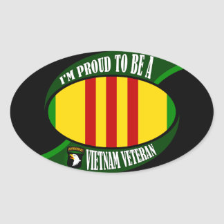 Proud to be a Vietnam Vet Oval Stickers