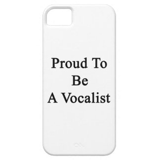 Proud To Be A Vocalist iPhone SE/5/5s Case