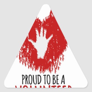 Proud to be a volunteer triangle sticker