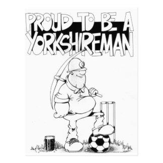 Proud to be a yorkshireman postcard