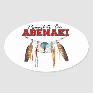 Proud to be Abenaki Oval Sticker