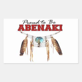 Proud to be Abenaki Rectangular Sticker