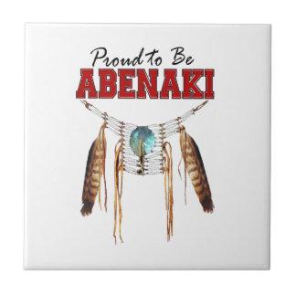 Proud to be Abenaki Small Square Tile