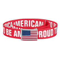 Proud to Be American Belt