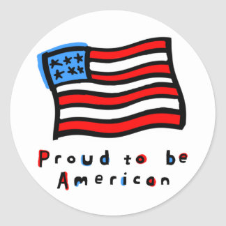 Proud to be American Classic Round Sticker