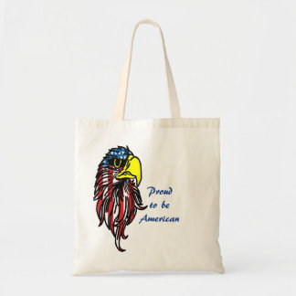 Proud To Be American Eagle Head Tote Bag