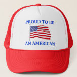 "Proud to Be American Hat<br><div class=""desc"">Show Your True Colors with this Patriotic Hat .</div>"
