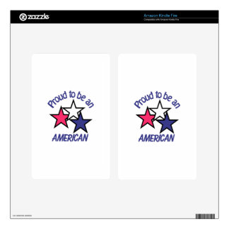 Proud To Be American Kindle Fire Skins