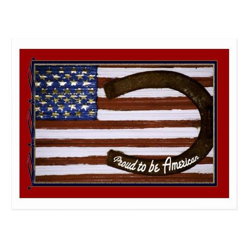 Proud to be American, Patriotic Post Card