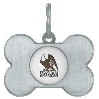 Proud To Be American Pet Name Tag