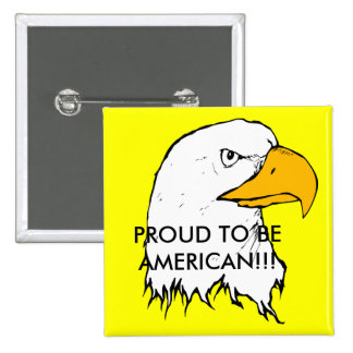 Proud to be American Pinback Button