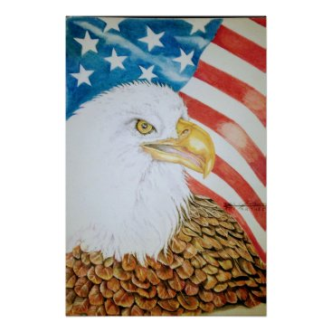 USA Themed Proud to be American Poster