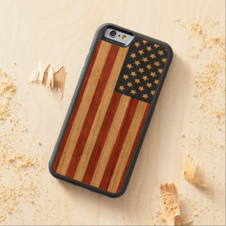 Proud to be American Rustic Americana Carved Cherry iPhone 6 Bumper Case