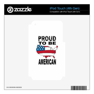Proud To Be American Decals For iPod Touch 4G