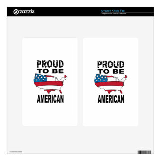 Proud To Be American Kindle Fire Skin