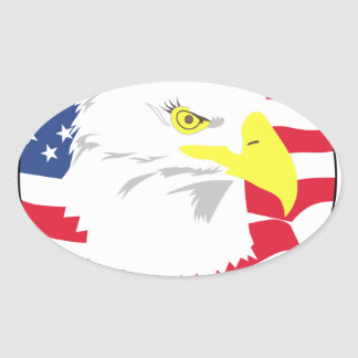 Proud to Be American Oval Sticker