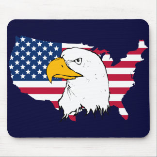 Proud to be American - US Flag Mousepad