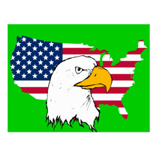Proud to be American - US Flag Postcard