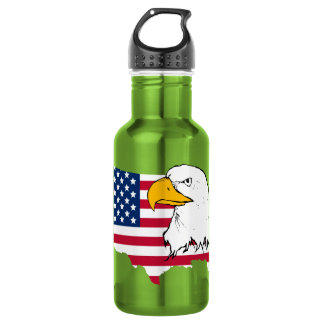 Proud to be American - US Flag Stainless Steel Water Bottle